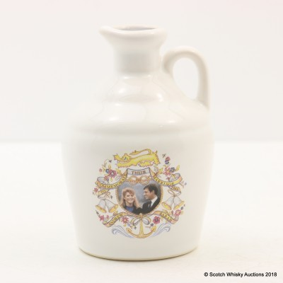Pointer's Wedding of Andrew and Sarah Commemorative Mini Decanter 5cl