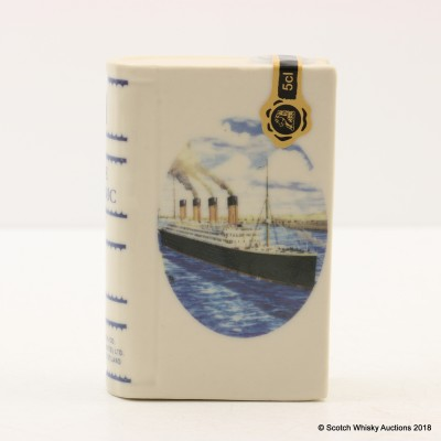 Rutherford's Ceramics The Titanic Mini Book Decanter 5cl