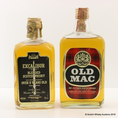 Excalibur 5 Year Old Blend & Old Mac 5 Year Old Blend 2 x 75cl