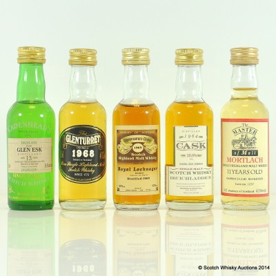 Assorted Minis x 5 Including Bruichladdich 1964