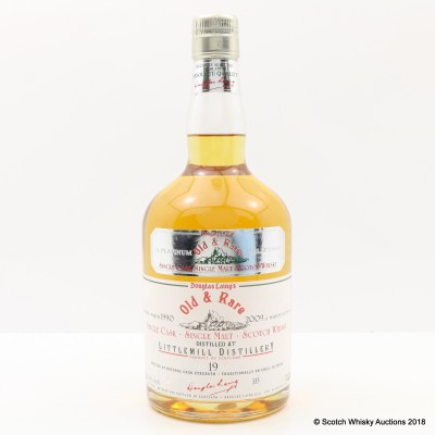 Littlemill 1990 19 Year Old Old & Rare