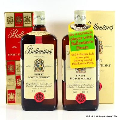 Ballantine's Finest (Including Sandy Lyle Competition Tag) 2 x 75cl