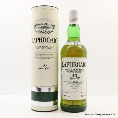 Laphroaig 10 Year Old Pre Royal Warrant 1L