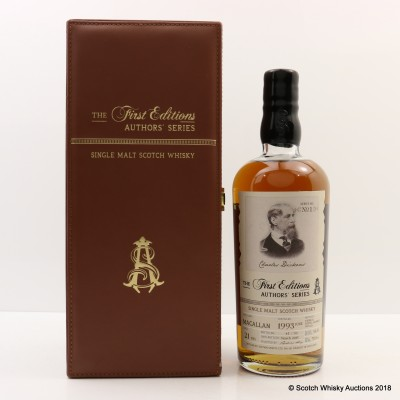 Macallan 1993 21 Year Old First Editions Author's Series Charles Dickens