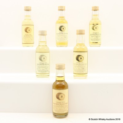 Signatory Minis 6 x 5cl Including Longmorn 1973 21 Year Old