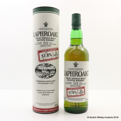 Laphroaig 10 Year Old Cask Strength Batch #1