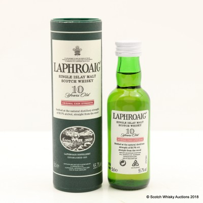 Laphroaig 10 Year Old Original Cask Strength Mini 5cl
