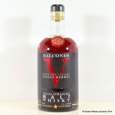 Balcones 5th Anniversary Straight Malt Brimstone Resurrection Cask Finish 75cl