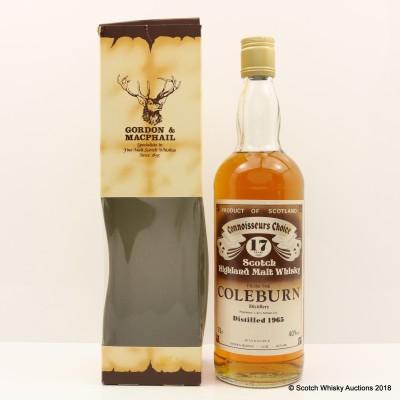 Coleburn 1965 17 Year Old Connoisseurs Choice 75cl