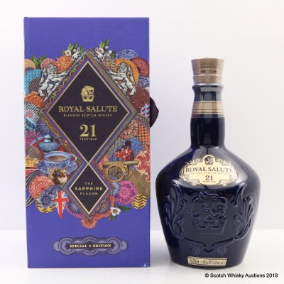 Chivas Royal Salute 21 Year Old Sapphire Flagon Mid Autumn Festival Martin O'Neill Western Edition
