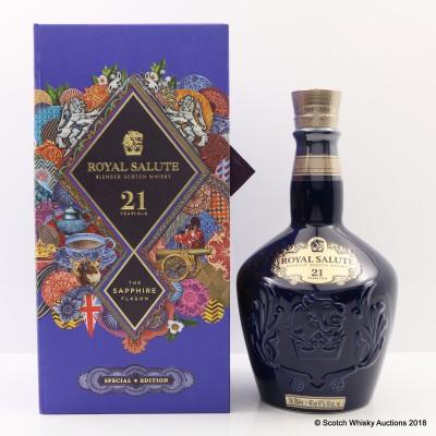 Chivas Royal Salute 21 Year Old Sapphire Flagon Mid Autumn Festival Martin O'Neill Western Edition
