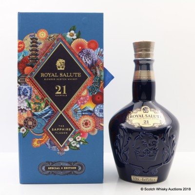 Chivas Royal Salute 21 Year Old Sapphire Flagon Mid Autumn Festival Martin O'Neill Eastern Edition