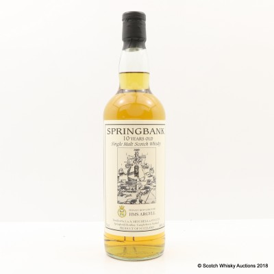 Springbank 10 Year Old Private Bottling for HMS Argyll