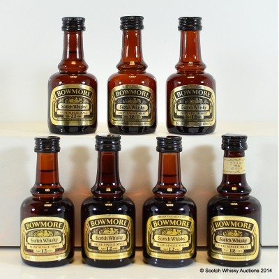 Bowmore 12 Year Old Dumpy Bottle Minis 7 x 5cl