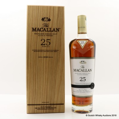 Macallan 25 Year Old 2018 Release