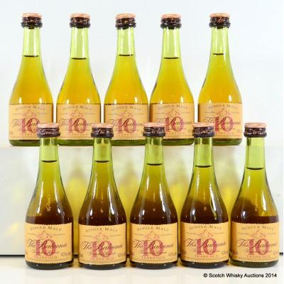 Balvenie Founder's Reserve 10 Year Old Cognac Bottle Minis x 10