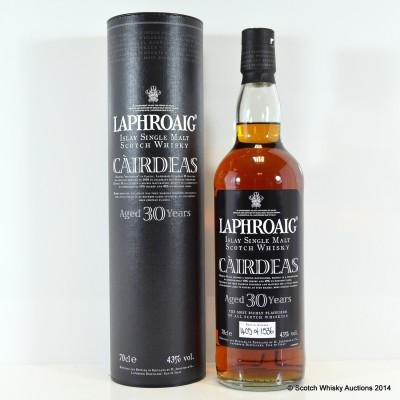 Laphroaig Cairdeas 30 Year Old With Certificate