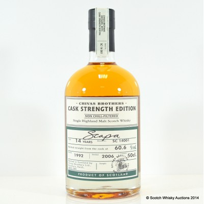 Scapa 14 Year Old Cask Strength Chivas Bros 50cl