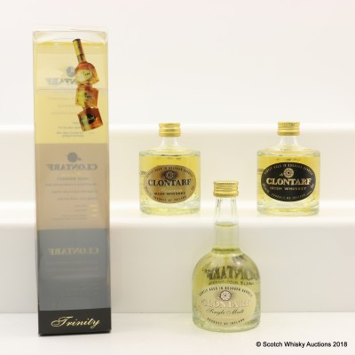Clontarf Irish Whiskey Mini Set 3 x 5cl