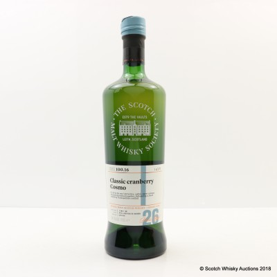 SMWS 100.16 Strathmill 1991 26 Year Old