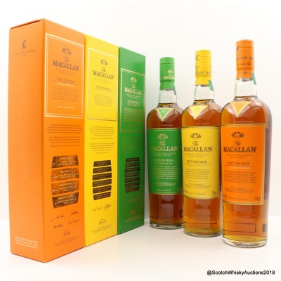 Macallan Edition No2, No3 & No4 75cl