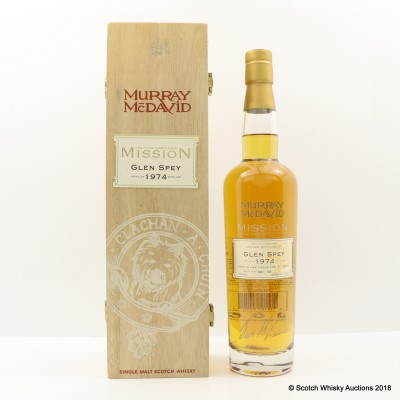 Glen Spey 1974 30 Year Old Murray McDavid Mission