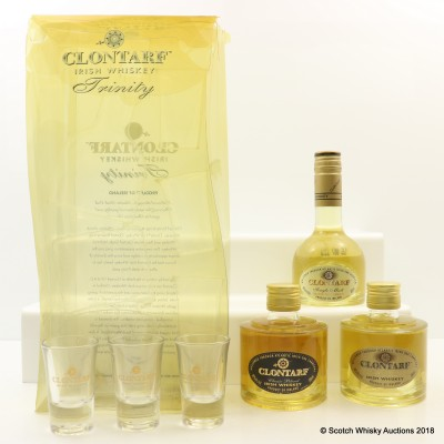 Clontarf Irish Whiskey Set 3 x 20cl