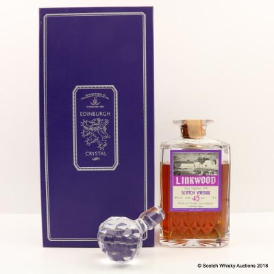 Linkwood 1938 45 Year Old Gordon & MacPhail Crystal Decanter 75cl
