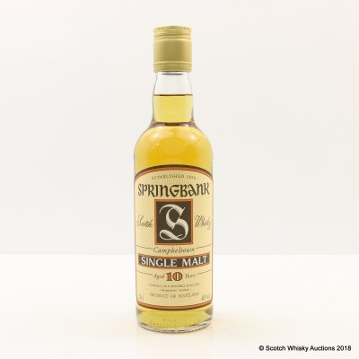 Springbank 10 Year Old Old Style 35cl