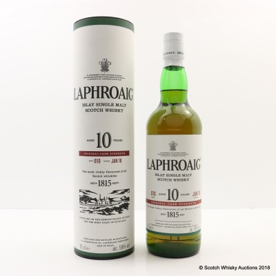 Laphroaig 10 Year Old Cask Strength Batch #10