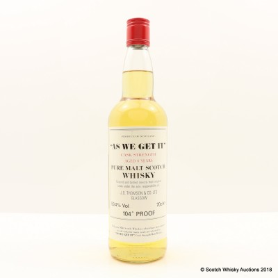 'As We Get It' 8 Year Old Cask Strength