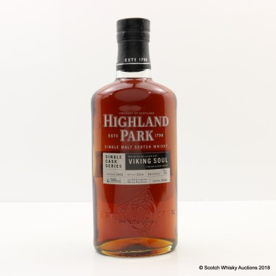 Highland Park 2002 14 Year Old Viking Soul Single Cask #2544