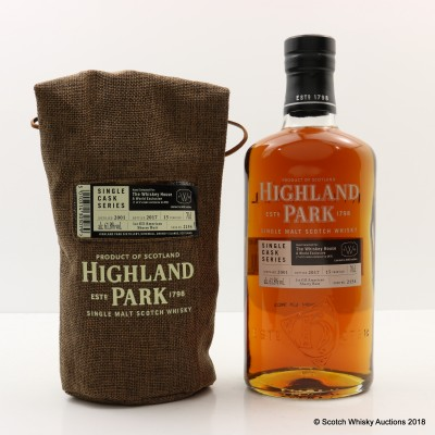 Highland Park 2001 15 Year Old Single Cask #2154 for The Whiskey House