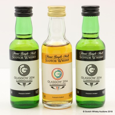 A Taste of Scotland Mini Set 3 x 5cl for Glasgow Commonwealth Games 2014