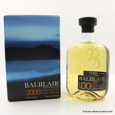 Balblair 2000 Second Release 1L