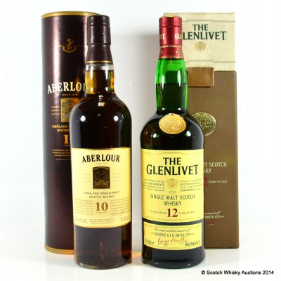 Aberlour 10 Year Old & Glenlivet 12 Year Old
