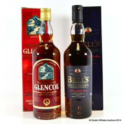 Bell's Special Reserve & MacDonald's Glencoe 8 Year Old 75cl