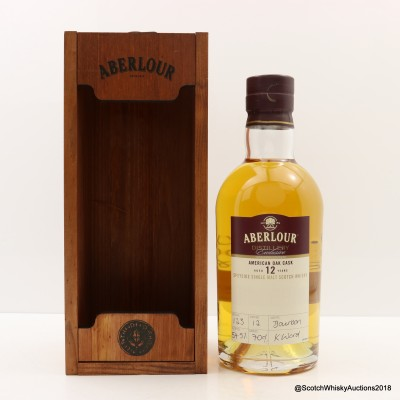 Aberlour 12 Year Old American Oak Cask Distillery Exclusive