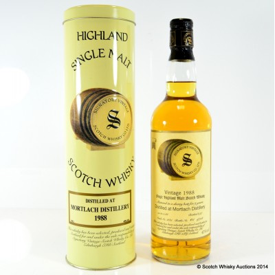 Mortlach 1988 9 Year Old Signatory