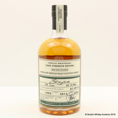 Scapa 1993 19 Year Old Chivas Brothers Cask Strength Edition 50cl