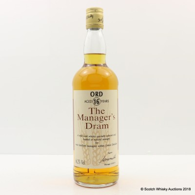 Manager's Dram Ord 16 Year Old