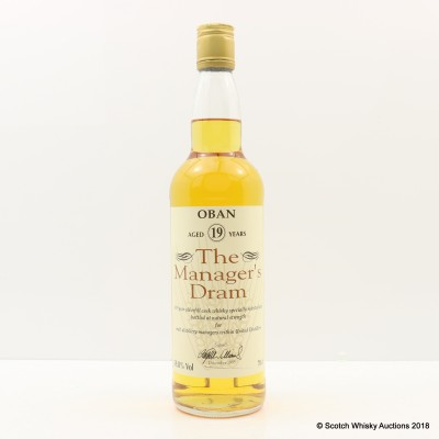 Manager's Dram Oban 19 Year Old