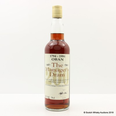 Manager's Dram Oban 16 Year Old 200th Anniversary
