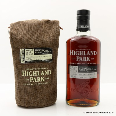 Highland Park 2002 14 Year Old Single Cask #2791 For Heathrow & World of Whiskies
