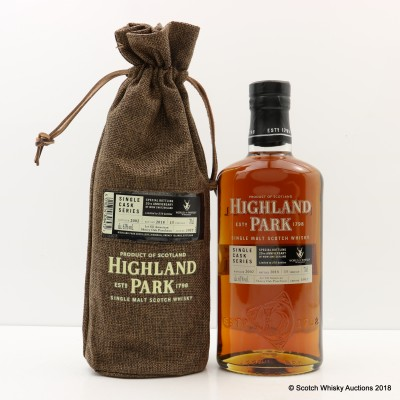 Highland Park 2002 15 Year Old Single Cask #1937 For 20th Anniversary Of WOW Switzerland