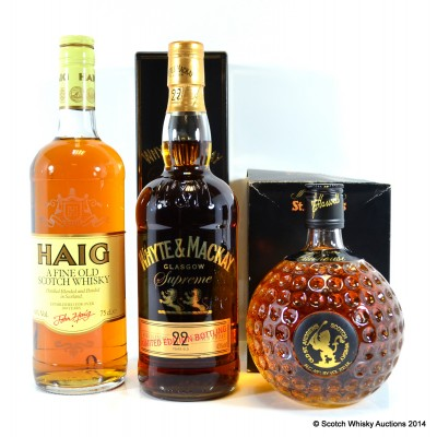 Whyte & Mackay Supreme 22 Year Old, Old St Andrews Clubhouse & Haig Fine Old Scotch