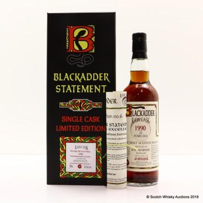 Bunnahabhain 1990 22 Year Old Blackadder Raw Cask