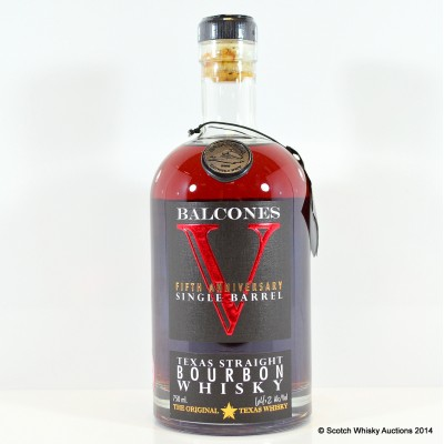Balcones 5th Anniversary Single Barrel Texas Straight Bourbon Signed 75cl
