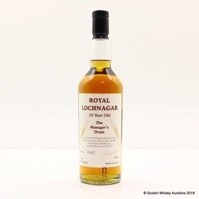 Manager's Dram Royal Lochnagar 10 Year Old