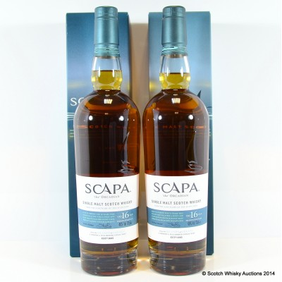 Scapa 16 Year Old x 2